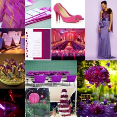 Tried and True: Wedding and Event Planning: Purple and Fuchsia Inspiration Board