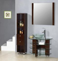 Multi Glass Shelves in Bathroo.... VF