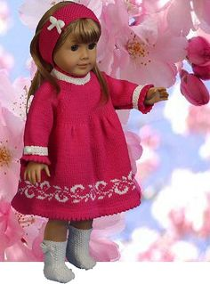 Knitting Patterns for Dolls Clothes  www.doll-knitting-patterns.com
