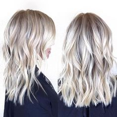 Mid length blonde | @habitsalon
