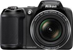 Nikon - Coolpix L340 20.2-Megapixel Digital Camera - Black - Front Zoom