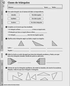 *MIS COSAS DE MAESTRA*: Triángulos: clasificación según sus lados y según sus…
