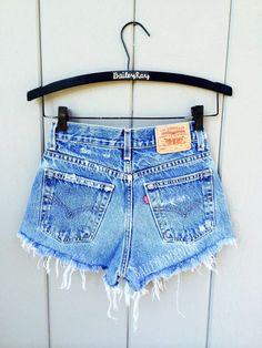 ALL SIZES Women Levi High Waisted Denim Shorts  by BaileyRayandCo