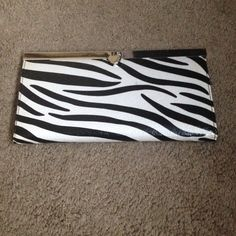 Zebra print wallet Zebra wallet. Size: length 7.5 inches, height 4 inches.. Bags Wallets