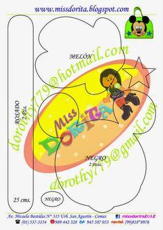 Miss Dorita: Molde del Video de la Lonchera con Cierre de Micke... Mickey Mouse, Minnie Mouse Theme, Foam Crafts, Diy And Crafts, Imprimibles Toy Story Gratis, Paper Purse, Disney Plush, Mickey Party, Paper Piecing Patterns