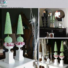 TOPIÁRIOS (par) )... Peças muito versáteis com muitas capacidades decorativas ....QUAL A SUA OPINIÃO sobre estas nossas peças? (disponíveis) https://www.facebook.com/objecta.segunda.mao/ .