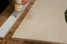 IKEA Crib Changing Table Hack : 5 Steps (with Pictures) - Instructables Ikea Crib, Crib With Changing Table, Changing Mat, Butcher Block Cutting Board, Fun Projects, Cribs, Hacks, Simple, Tips