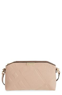 Burberry 'Chichester Signature' Check Embossed Leather Crossbody Bag