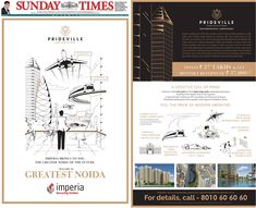 Imperia #Prideville multi-city Jacket Ad was released on 13th October, 2019 (Sunday) in The Times of India, main paper in Delhi NCR /Lucknow / Kanpur / Patna / Ranchi and Chandigarh edition.