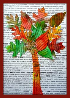 News paper college Autumn tree Fall Arts And Crafts, Autumn Crafts, Autumn Art, Autumn Trees, Fall Art Projects, School Art Projects, Autumn Activities, Art Activities, Newspaper Art