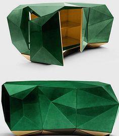 Diamond Emerald by @bocadolobo! Perfeição em forma de Buffet #linhacatarinainspo #inspo #design #isaloni2016 #bocadolobo by linhacatarina