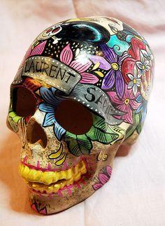 Skulls: Flowers #skull.|♡ DanaMichele