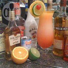 Texas hurricane cocktail @ allrecipes.co.uk Fun Cocktails, Party Drinks, Cocktail Drinks, Fun Drinks, Yummy Drinks, Cocktail Recipes, Alcoholic Drinks, Drink Recipes, Cocktails