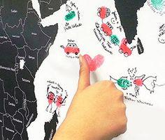 Weltkarte Fingerabdruck