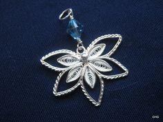 Handmade Sterling Silver Five Petals Filigree Pendant by TrulyFiligree, $30.50