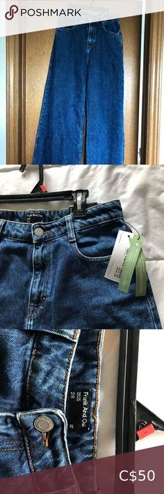 "BNWT Frank &Oak Indigo Nina Wide Leg Jeans Brand new. Size 28"". GORGEOUS AND SUPER FLATTERING! Just don't fit. Frank & Oak Jeans Flare & Wide Leg White Blazer Women, White Women, Denim Cap, Pinstripe Pants, Wide Leg Denim, Blazer Dress, Jeans Brands, Boss Lady, Flare Jeans"