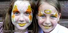Angel face paint designs from http://www.facepaintingtips.com