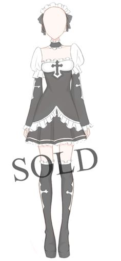 [SOLD] Halloween Outfit Adoptable by Aloise-chan on DeviantArt