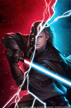 Star Wars: Darth Vader by inhyuklee on DeviantArt Star Wars Jedi, Darth Vader Star Wars, Anakin Vader, Anakin Skywalker, Darth Maul, Star Trek, Darth Vader Artwork, Darth Vader Comic, Lightsaber