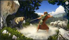1 Samuel 17:34, 35 David kills a bear and a lion