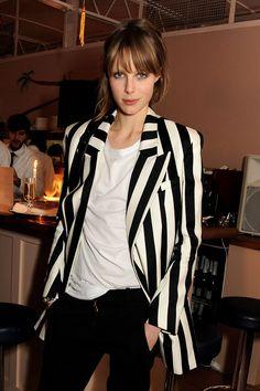 Tendencias primavera 2013 rayas stripes blanco y negro - Edie Campbell