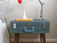 I have this exact vintage monarch suitcase!! Im so doing something like this with it!