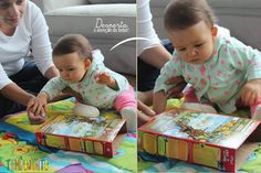 Atividades para bebes de 6-12 meses - caixa sucrilhos Infant Curriculum, Diy And Crafts, Crafts For Kids, Baby Club, Baby Art, Baby Games, My Little Girl, Kids And Parenting, Toy Chest