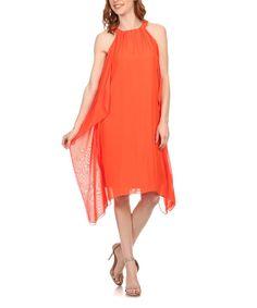 Look at this #zulilyfind! Karen T. Design Orange Sidetail Yoke Dress by Karen T. Design #zulilyfinds