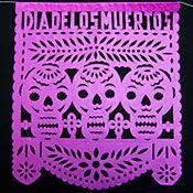 Day of the Dead medium purple banner sample