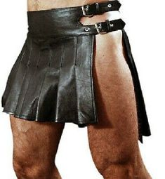 Our goal is to bring you genuine gear at wholesale pricing. If you're looking to buy a quality kilt at a reasonable price then look no further. kilt in excellent condition. Leather Kilt, Leather Men, Black Leather, Cowhide Leather, Roman Gladiators, Roman Clothes, Dress Clothes, Men Wearing Skirts, Men In Kilts