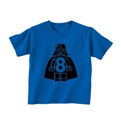 birthday number darth vader shirt