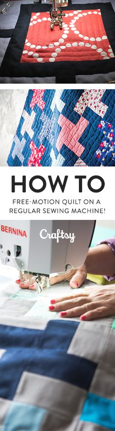 Would you like to quilt your own quilts on your regular home sewing machine? What if we told you that you can add beautiful texture to your quilts without investing in a specialty machine? @craftsy