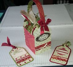 Tutorial for Sweet Sassy Diva's Gift Tag Box! Stampin' Up!