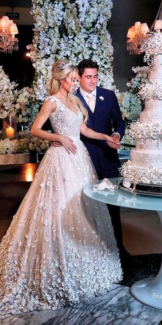 princess wedding dresses lace ball gown floral applique cap sleeves v neckline blush ricardohara