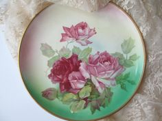 Antique Taylor Smith and Taylor Rose Plate by jenscloset on Etsy