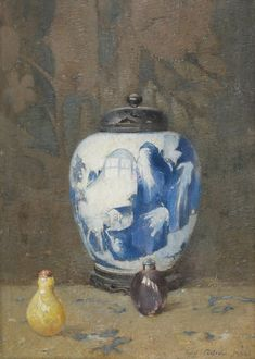 Still Life, Chinese Vase, 1922 by Emil Carlsen on Curiator, the world's biggest collaborative art collection. Van Gogh, American Impressionism, Palette, Digital Museum, Portraits, Collaborative Art, Still Life Art, Art Institute Of Chicago, Vases Decor