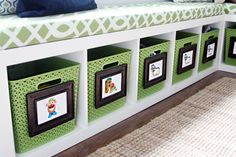IHeart Organizing: Our Favorite Daily Organizing Solutions  (Book cases turned storage benches.)