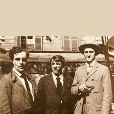 Amedeo Modigliani, Pablo Picasso and Andre Salmon in Paris.