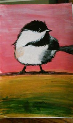 Chickadee, Acrylic 2015