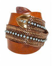 Nanni Chain Detail Leather Belt