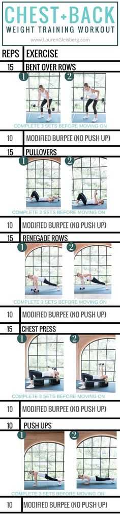 Chest + Back Upper Body  Workout ( Fall Challenge Week 1, Day 4 ) by LaurenGleisberg.com