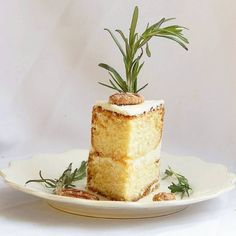 Baking Bitch - Lemon Cake with Rosemary Buttercream and Marmalade Filling