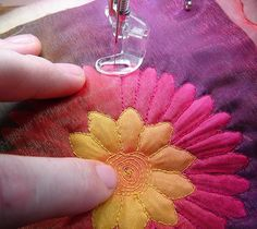 how to use silk flowers. http://mybyrdhouse.blogspot.com/2007/09/shadow-applique-with-silk-flowers.html