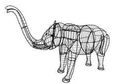 Leaf & Learn - Topiary Frames, Animal Topiary Frames, Wire Topiary, Garden Topiary, Elephant Topiary