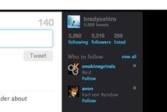 Twitter: recommending followers