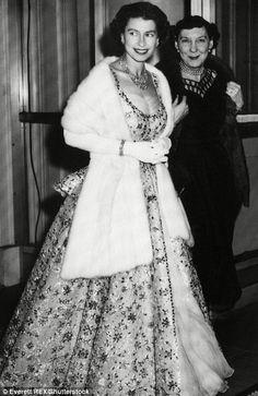 Queen Elizabeth II and Mamie Eisenhower in America ~ 1957