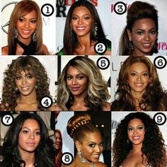9 Different Hair Styles Of Bey