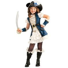 Blue Pirate Girl Child Costume from CostumeExpress.com