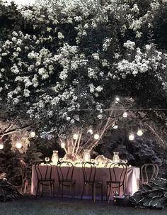 Midsummer night's party - love the hanging candles