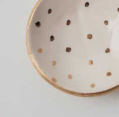 Gold dot jewelry dish. » Super cute!